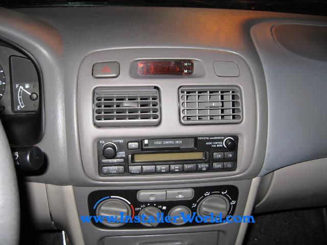 99 02 toyota corolla radio removal rh installerworld com toyota corolla radio install 2009 toyota corolla radio installation kit